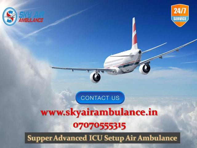 Pick Comfortable and Risk-Free Patient Shifting in Bhopal by Sky Air Ambulance