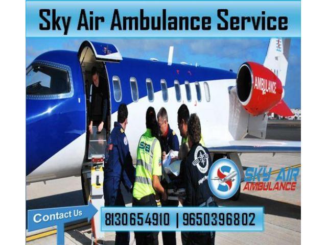 Avail Sky Air Ambulance in Guwahati with ICU and CCU Setup