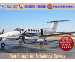 Rent Super Advanced Air Ambulance from Varanasi at Any-time
