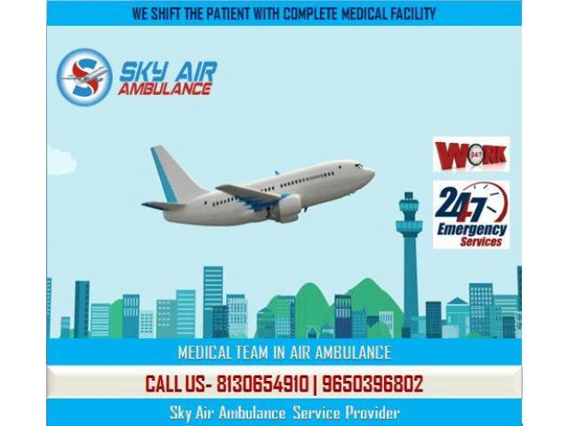 Book Sky Air Ambulance from Kolkata with Excellent Medical Facility