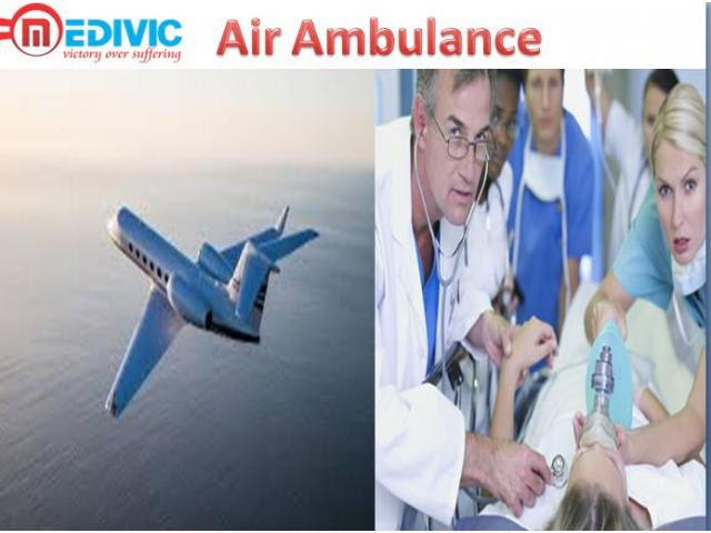 Medivic Aviation Air Ambulance from Allahabad with Hi-tech Equipment's as well as Doctor