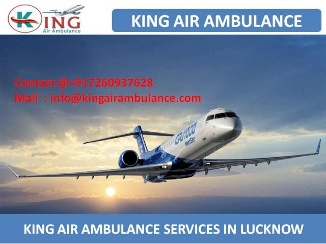 Get Oxygen System Air Ambulance Services in Lucknow by King