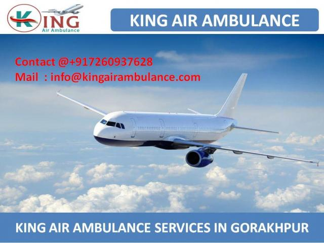 Get Critical Care Air Ambulance Services in Gorakhpur by King