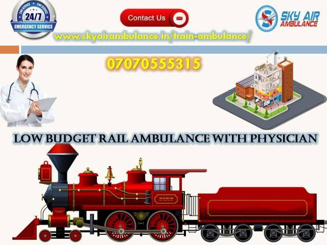 Avail Sky Train Ambulance in Kolkata at Cost-effective Price