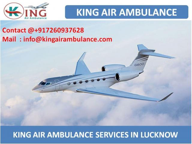 King Air Ambulance Service in Lucknow with full ICU Setup