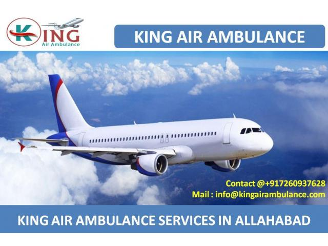 Emergency ICU Support Air Ambulance Service in Allahabad by King