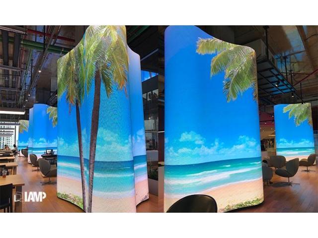 Shaped Pillar LED Screen