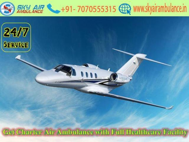Get Air Ambulance in Patna with Best Medical Team Support