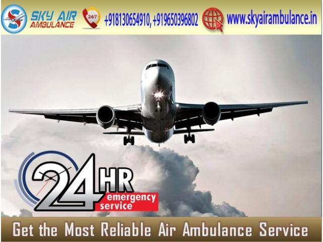 Sky Air Ambulance in Delhi with Dependable Medical Crew